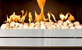 Gas Pebble Fireplace