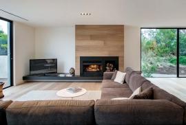 Open wood fireplaces in Kew