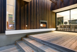Open wood fireplaces in Toorak
