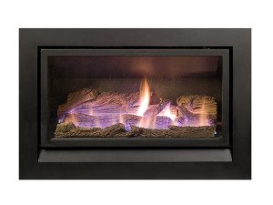 Enviro gas fireplace with log insert