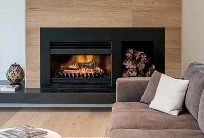 Easy install modern open wood fireplace