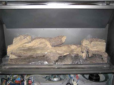 easy install modern enviro gas fireplace log set up image