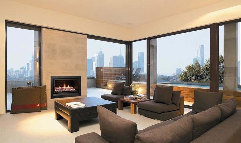 modern design enviro gas fireplace Albert Park