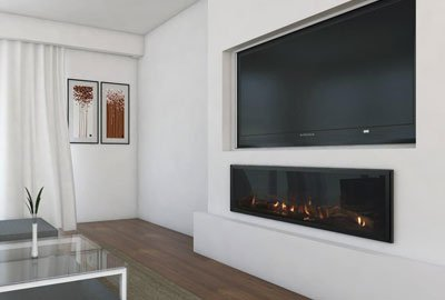 Contemporary design Seamless gas fireplace easy install