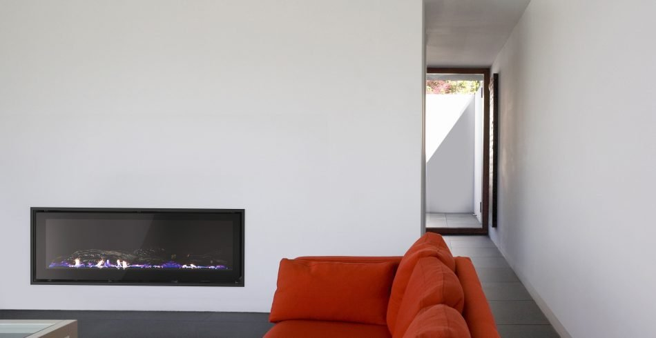 Contemporary design Seamless gas fireplace