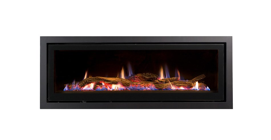 Seamless landscape gas fireplace product image
