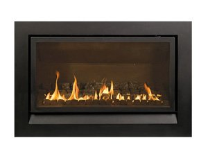 Enviro gas fireplace with coal insert