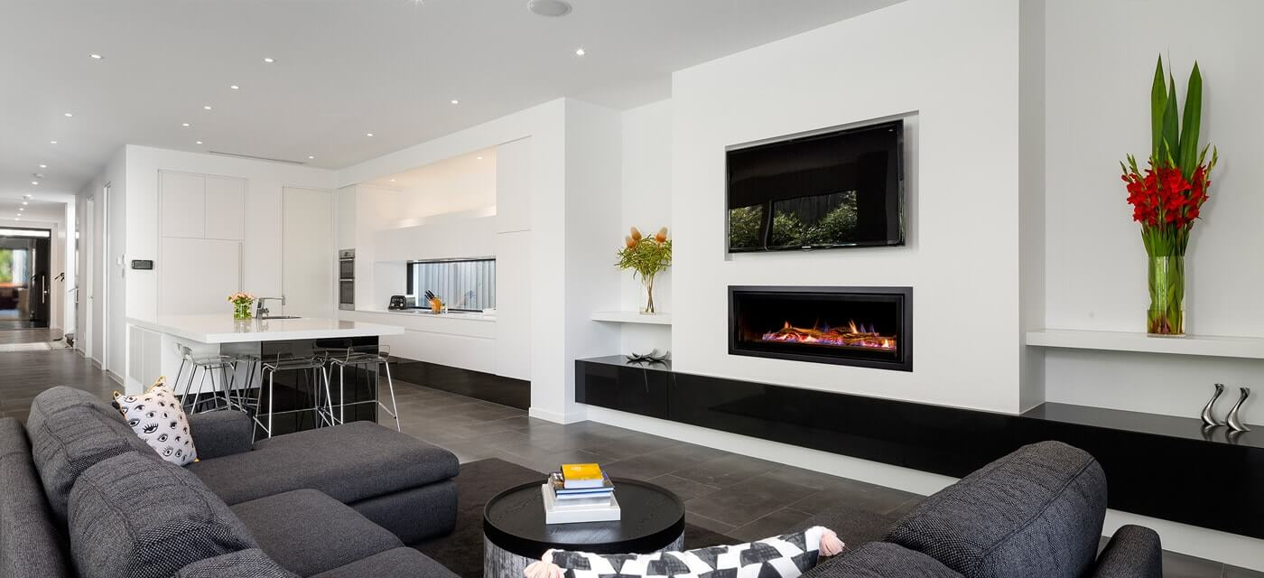 Architectural design Seamless landscape fireplace St Kilda