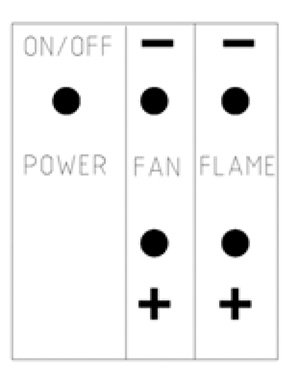 modern enviro gas fireplace controls