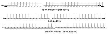 modern enviro gas fireplace pebble racks