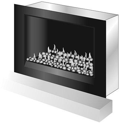 easy install modern enviro pebble gas fireplace