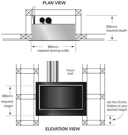 easy install modern enviro gas fireplace