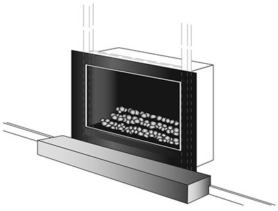 easy install modern enviro gas fireplace hearth image