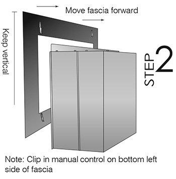 easy install modern enviro gas fireplace fascia image