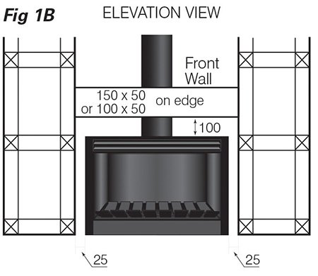easy install modern open wood fireplace